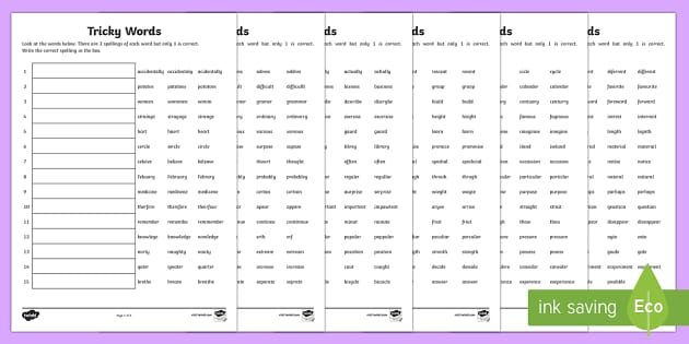 2014 Curriculum Spelling Worksheets Years 3 - spell, spelling