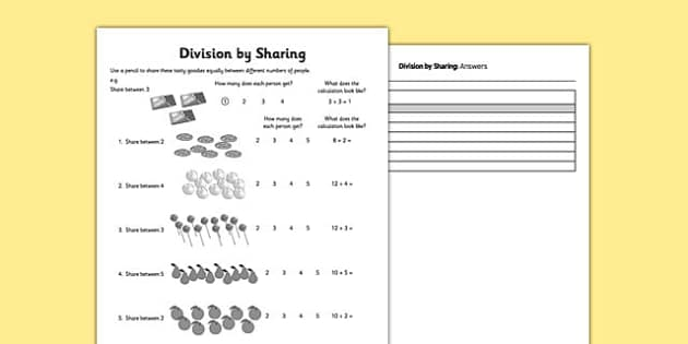 Division Primary Resources - Division, divide, share - Page 1