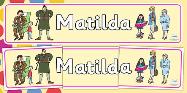 Matilda - Roald Dahl, Story Books Role Play, Roald - Page 1