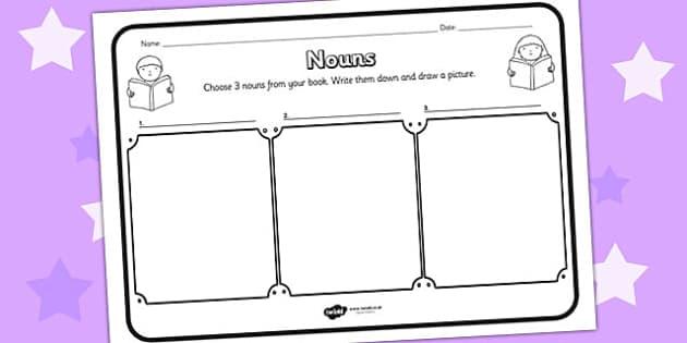Nouns Comprehension Worksheet - nouns, comprehension