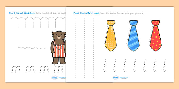 Goldilocks and the Three Bears Pencil Control Path Worksheets