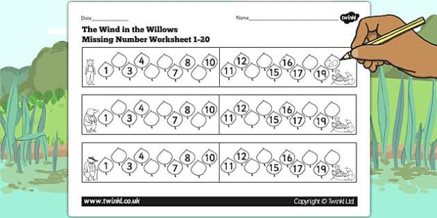 Common Worksheets » Numbers Worksheets 1-20 - Preschool and ...