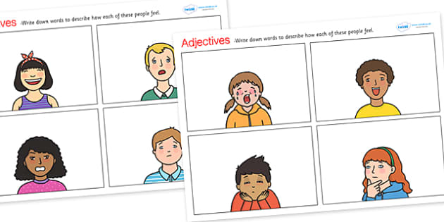 Feelings Adjectives Worksheets - adjectives, adjectives