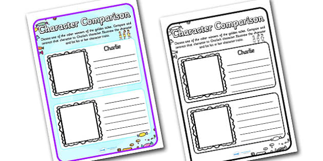 Character Description Writing Frame to Support Teaching on