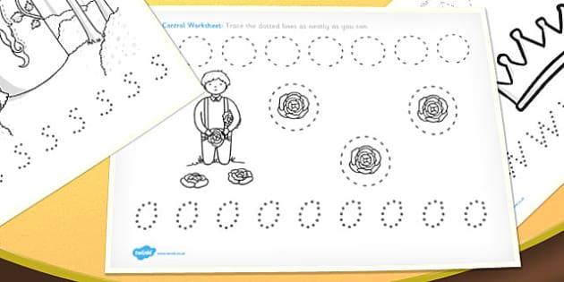 Rapunzel Pencil Control Worksheets - rapunzel, pencil, control