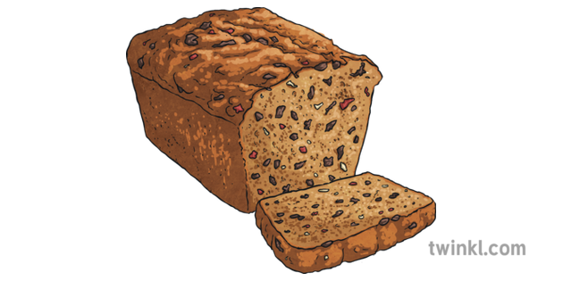 Bara Brith Fruit Bread Cake Food St Davids Day Maths Wales Ks2 Illustration