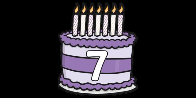 Stupendous Birthday Cake 7 Illustration Twinkl Funny Birthday Cards Online Alyptdamsfinfo