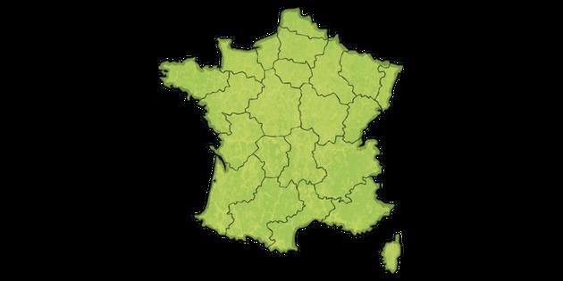 Map Of France Ks2.Blank Regions Of France Map Ks2 Illustration Twinkl