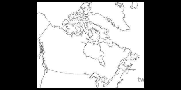 Canada Map With Halifax Canadas 150th Birthday Geography Ks2