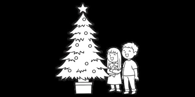 timeless design b7eab f84be Children Admiring Christmas Tree The Legend of the Christmas ...