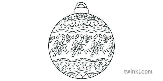 Christmas Baubles Pattern 4 Mindfulness Colouring Pages ...