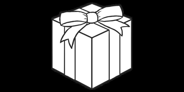 Christmas Present Emoji Newsroom Ks2 Black And White Rgb