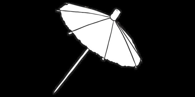 Cocktail Umbrella Drinks Teedy Beach Cupcake Ks1 Bw Rgb Illustration