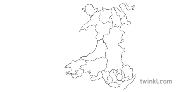 Map Of Uk No Labels.Counties Of Wales No Labels Map Diagram Country Cut Out Topics Map Of
