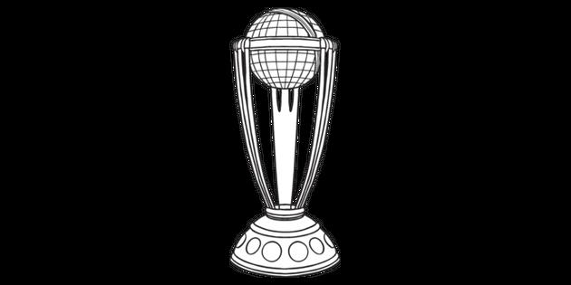 Cricket World Cup Trophy Sport Equipment Winner Ks1 Black And White Rgb