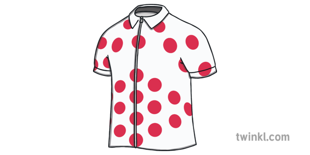 Cycling Jersey With Red Spots Tour De France Brochure Template Ks1