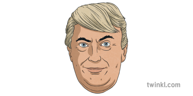 Donald Trump Roleplay Mask Illustration Twinkl