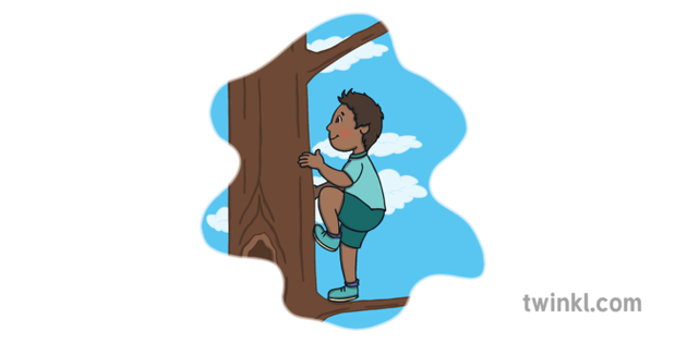 Dreams Of You Child Climbing Tree English Open Eyes Ks1 Colour Rgb Cartoon of kid wall climbing vector icon for web design isolated on white background. open eyes ks1 colour rgb