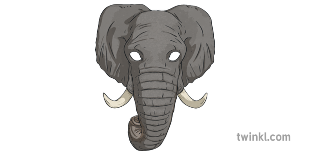 Elephant Role Play Mask Animals Jungle African Topics Ks2 Illustration A wide variety of elephant mask options are available to you, such as material, occasion, and print method. twinkl