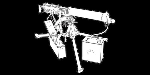 First World War British Vickers 303 Machine Gun WW1 Weapon