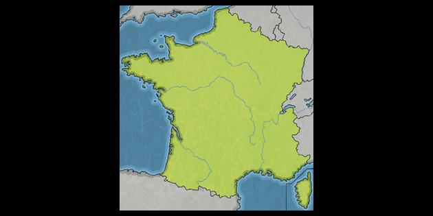 River Map Of France.French River Map Unlabeled France Ks2 Illustration Twinkl