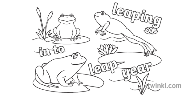 Frog Friends Character Animal Open Eyes Leap Year ...