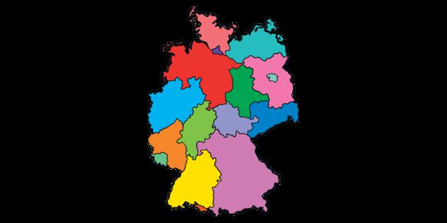 Germany States Map Topics German KS1 Illustration - Twinkl