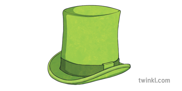 Green Top Hat 2 Illustration Twinkl