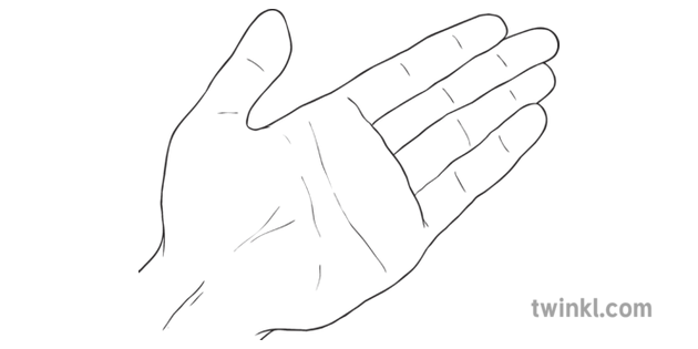 Hand People Body Parts Ks2 Black And White Illustration Twinkl