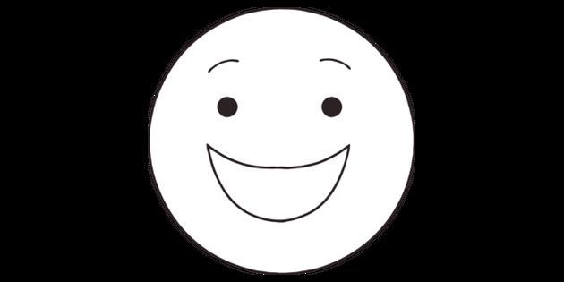 Feliz Emoji Emoticon Sonriente De La Cara Ks2 Blanco Y Negro Ilustración