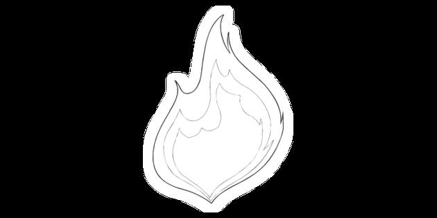 Holy Spirit Flame Symbol Fire Ks2 Black And White Illustration Twinkl