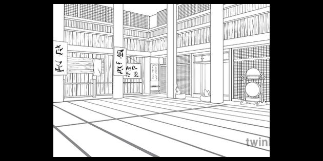 Inside The Dojo Scene Japanese Martial Arts Training English Ks2 Black And