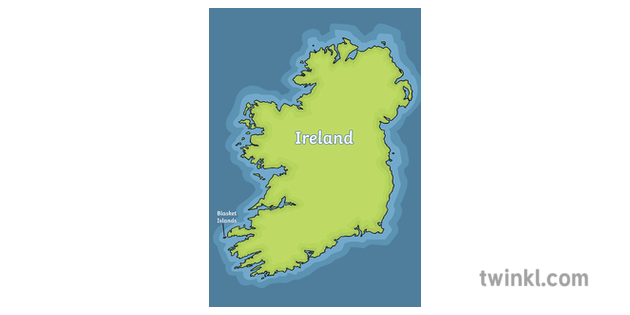 Map Of Ireland Islands.Ireland And Blasket Islands Map Illustration Twinkl