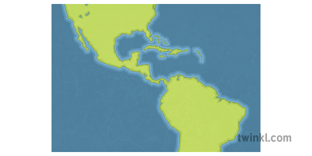 Isthmus of Panama Map Blank North and South America Science ...