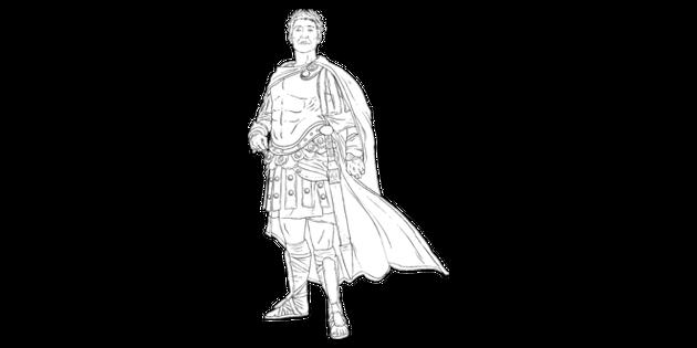 Julius Caesar Emperor Roman Ancient Rome Leader Armour Cape Mps Ks2 Black