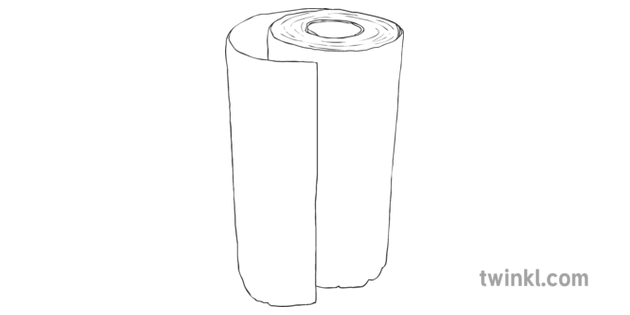 Kitchen Roll Inanimate Object Flood Barrier Stem Ks2 Black And White Rgb