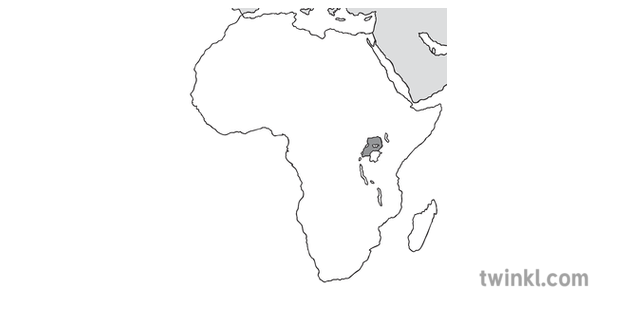 Map Of Africa Uganda Highlighted.Map Of Africa With Uganda Highlighted Geography Continents