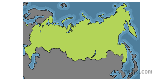 Map Of Asia Ks1.Map Of Russia Europe Asia Geography Country Ks1 Illustration Twinkl