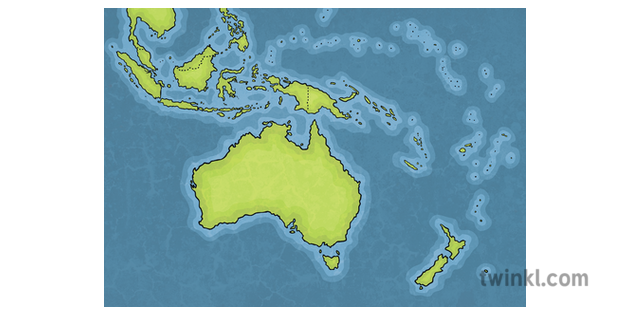 Map Of Australia And Neighbouring Countries.Map Of Australia And Its Neighbouring Countries Geography Ks2