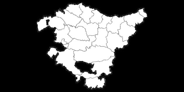 Map Of Basque Country Comarcas Pais Vasco Comarcas Mapa Spanish