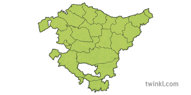Mapa Del País Vasco.Map Of Basque Country Comarcas Pais Vasco Comarcas Mapa