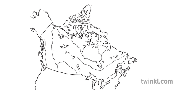 Map Of Canada No Labels.Map Of Canada 8 Climate Regions No Labels Canada Maps