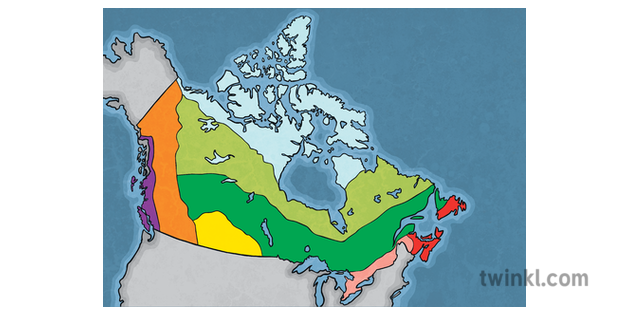 Map Of Canada With Labels.Map Of Canada 8 Climate Regions No Labels Canada Maps Geography