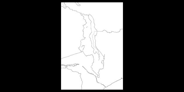 Map Of Africa Ks2.Map Of Malawi And Surrounding Area Africa Zimbabwe Mozambique Landlocked