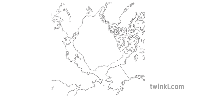 Map Of Uk No Labels.Map Of North Pole No Labels Ann Daniels Topics Ks2 Black And White 1