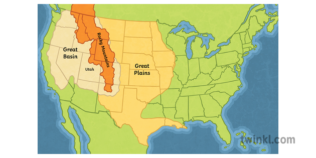 Great Plains Us Map Map of Utah and the Great Plains History North America State Secondary