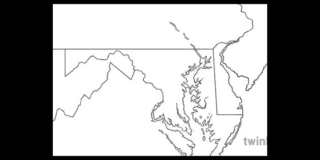 Map of Washington DC and Surrounding Area No Text USA Maps ...