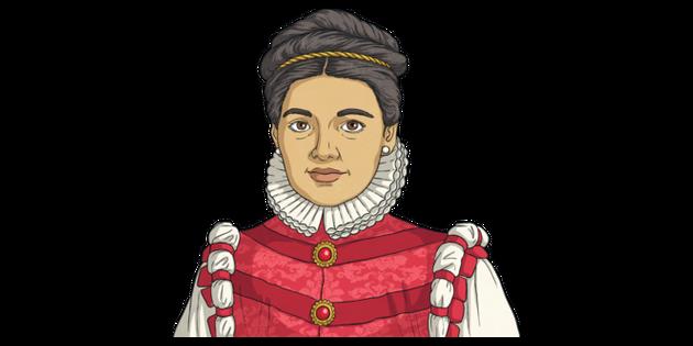 Maria Pita Portrait Woman History Spanish KS2 Illustration - Twinkl