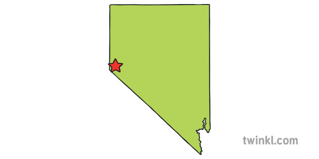 Nevada Outline Usa State Map Carson City Capital Ks1 Illustration Twinkl