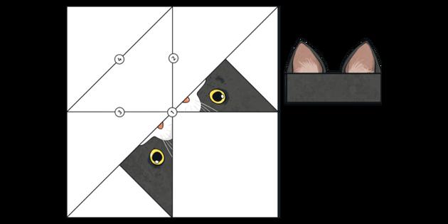 Origami Cat Bookmark Diagrams by Katana-Nova-Cat on DeviantArt | 315x630